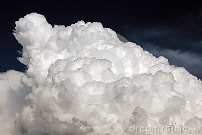Puffy White Monsoon Cloud