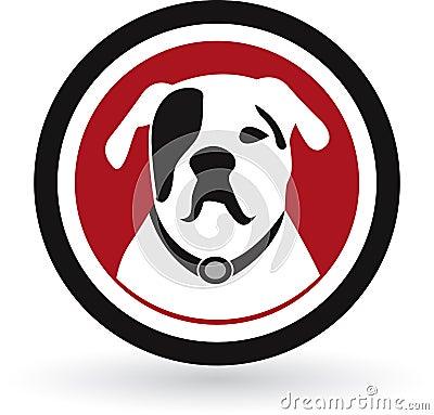 Pug dog logo