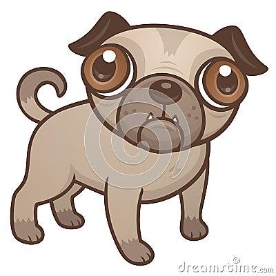 Pug Puppy Cartoon