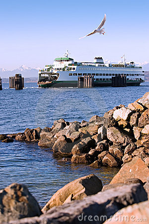 Puget Sound Ferry and Shoreline