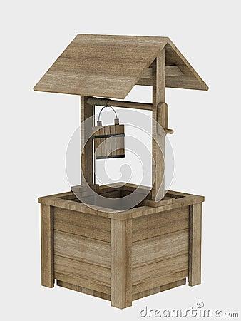 puits en bois de jardin images libres de droits image 13258799. Black Bedroom Furniture Sets. Home Design Ideas