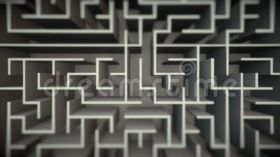 Pulisca Maze Flyover illustrazione di stock