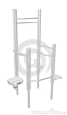Pull-up bars or shower rack, 3D illustration