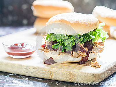 Pulled Pork BBQ Sandwich Royalty Free Stock Images - Image: 25996589