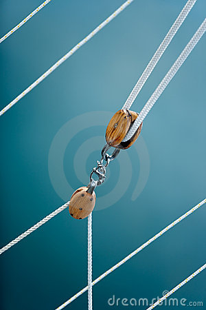 Pulley blocks and ropes