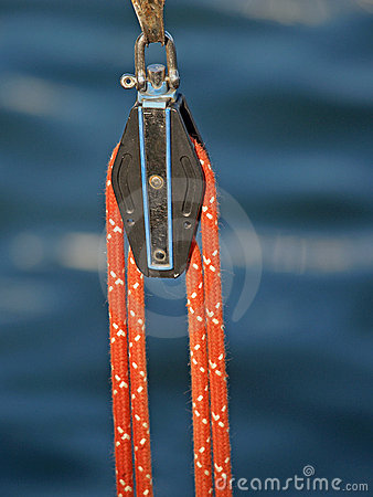 A pulley and a rope
