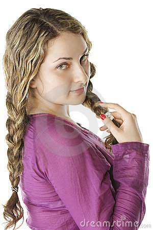 Pulling braids sideview
