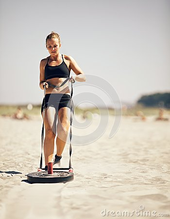 Pulling A Crossfit Sled