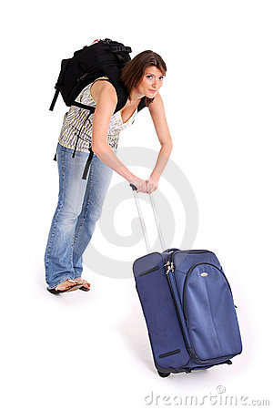 Pulling suitcase