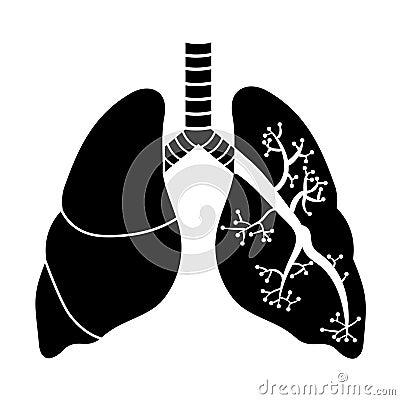 Pulmones en blanco y negro