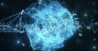 Pulsating Digital Binary Data Networks - Abstract Motion Background 4k stock footage