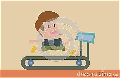 Pulser sur le tapis roulant