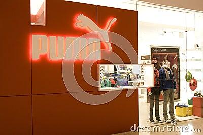 Puma store Editorial Stock Image