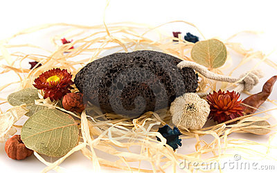 Pumice-stone with herbals