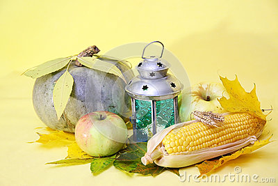 Pumkin, corn