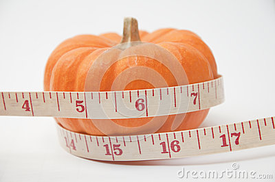 Pumkin and tape meter