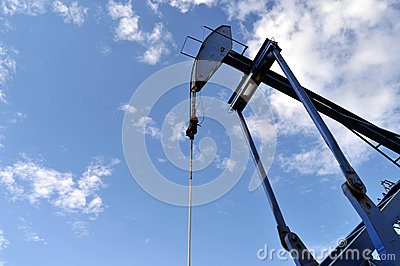Pump jack against the sky