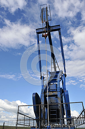 Pump jack closeup from the front