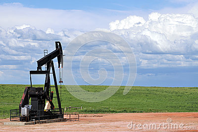 Pump jack on the prairie