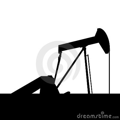 Pump jack on raw oil well