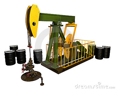 Pump Jack with Wellhead