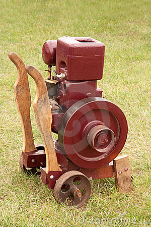 Pump which can be wheeled about