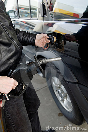 Free Pumping Gas Royalty Free Stock Photography - 1413077