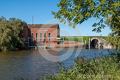 Pumping station Greetsiel, Germany Editorial Image