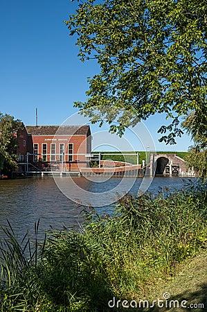 Pumping station Greetsiel, Germany Editorial Stock Image