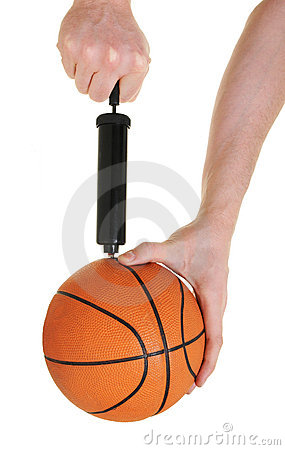 Free Pumping Up Basketball Royalty Free Stock Images - 7697349