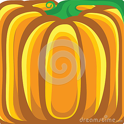 Pumpkin background.Vector orange illustration