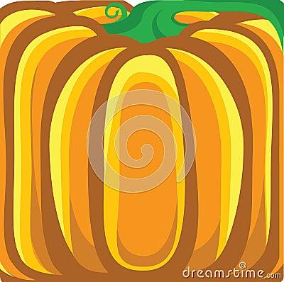 Pumpkin background.Vector orange illustration
