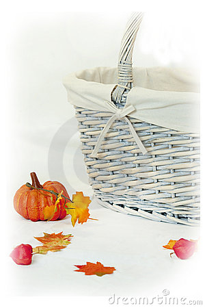 Pumpkin And Basket Stock Photography - Image: 11206612