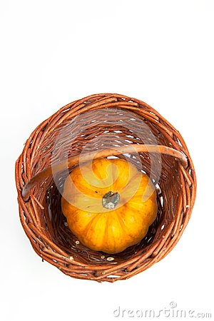 Pumpkin on the basket