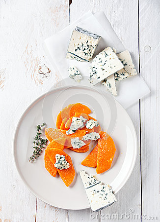 Pumpkin with blue cheese