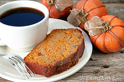 pumpkin bread and coffee stock photography image 7011072