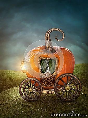 Pumpkin carriage