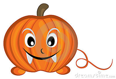 Pumpkin cartoon character