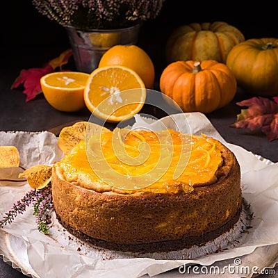 Free Pumpkin Cheese Cake Royalty Free Stock Photos - 78116958