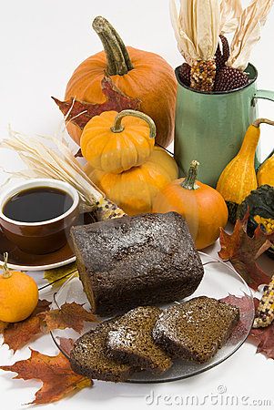 Free Pumpkin Coffee Cake Stock Photo - 10865660