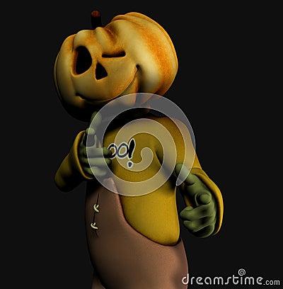 Pumpkin halloween man