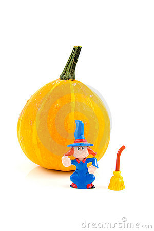Pumpkin for Halloween with wich
