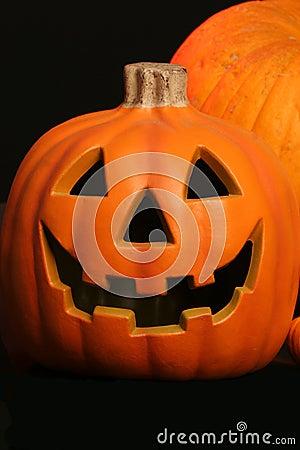 Pumpkin with jack o lantern