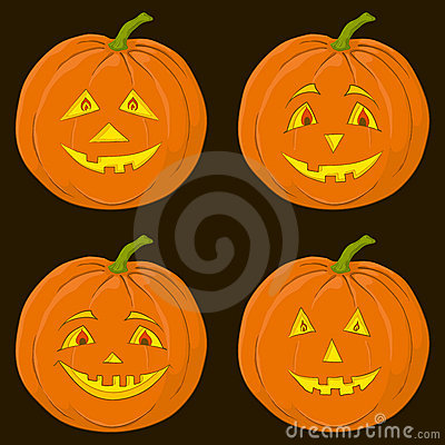 Pumpkin Jack O Lantern, set