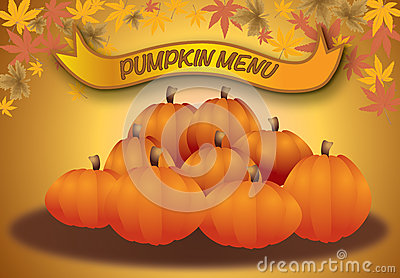 Pumpkin menu, autumn halloween and thanksgiving me