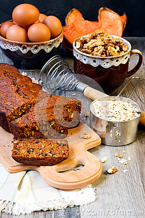 Pumpkin Oat And Nut Tea Bread Royalty Free Stock Photo - Image ...