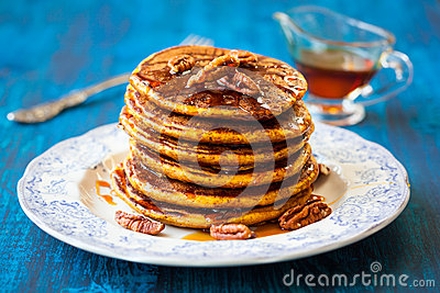 Pumpkin Pancakes Stock Photo - Image: 43055809