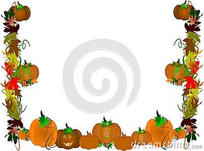 Pumpkin patch border