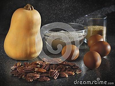 Pumpkin pie ingredients