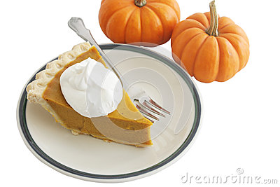 Pumpkin Pie Slice with Clipping Path